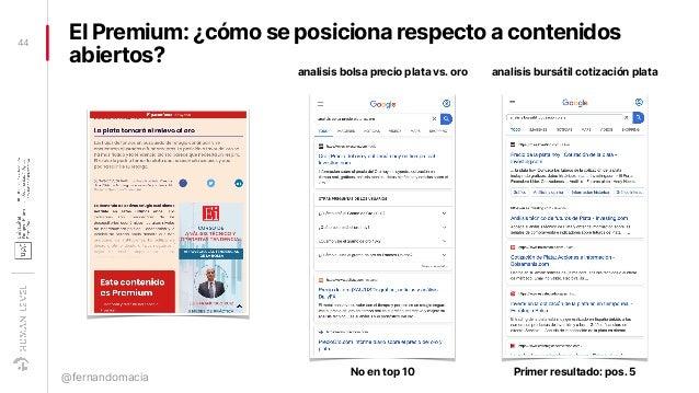 EI Premium: ¿cómo se posiciona respecto a contenidos abiertos? 44 @fernandomacia analisis bolsa precio plata vs. oro anali...