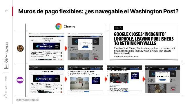 Muros de pago flexibles: ¿es navegable el Washington Post?47 @fernandomacia Chrome