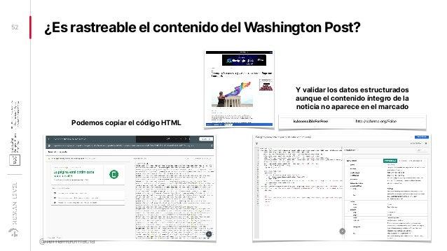 ¿Es rastreable el contenido del Washington Post?52 @fernandomacia Podemos copiar el código HTML Y validar los datos estruc...