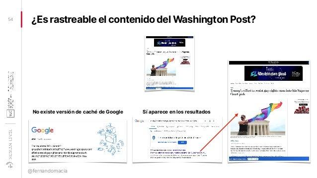 ¿Es rastreable el contenido del Washington Post?54 @fernandomacia No existe versión de caché de Google Sí aparece en los r...