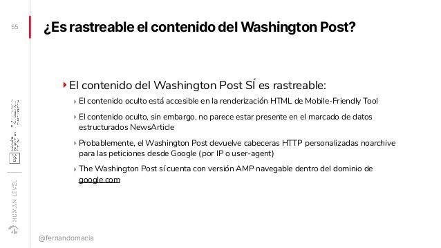¿Es rastreable el contenido del Washington Post? ‣El contenido del Washington Post SÍ es rastreable: ‣ El contenido oculto...