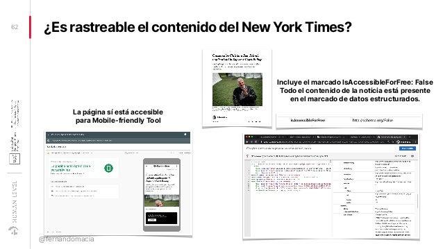 ¿Es rastreable el contenido del New York Times?62 @fernandomacia La página sí está accesible para Mobile-friendly Tool Inc...