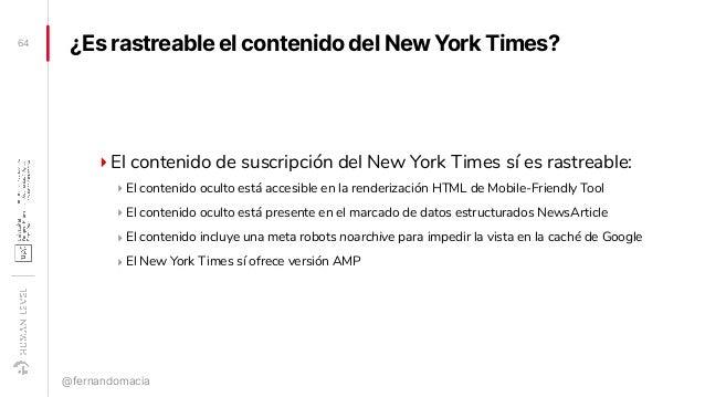 ¿Es rastreable el contenido del New York Times? ‣El contenido de suscripción del New York Times sí es rastreable: ‣ El con...