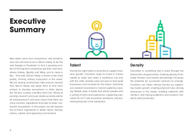 Fostering a Startup and Innovation Ecosystem – Best Executive Summary