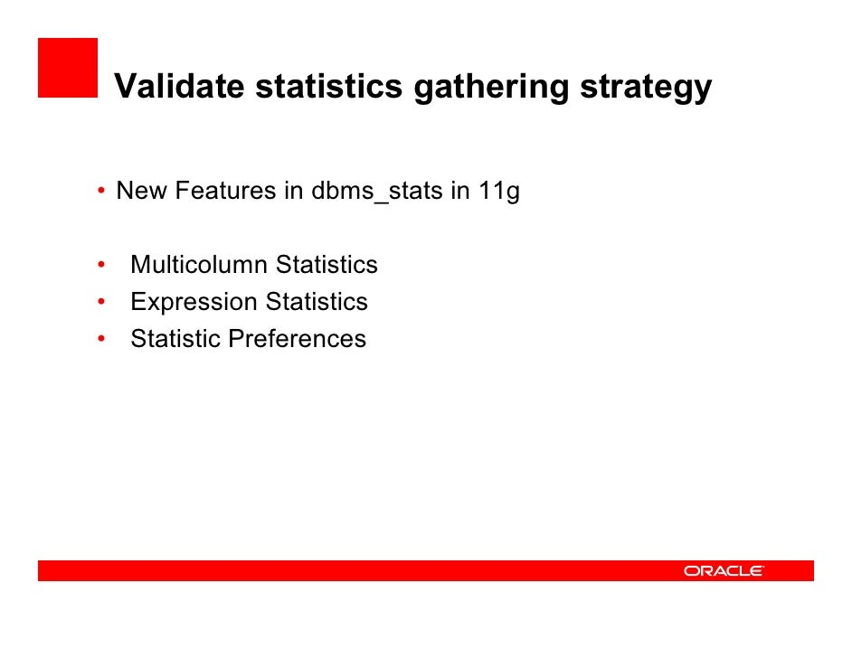 Oracle dbms stats