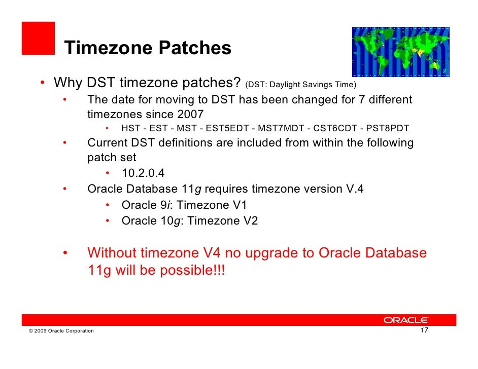 oracle dst patch