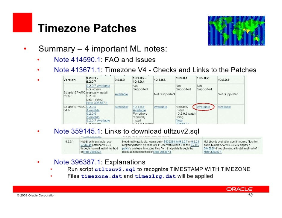 2009 Oracle Corporation 17 18