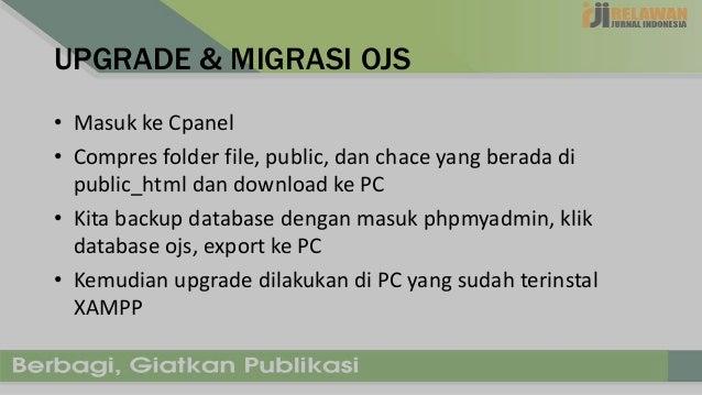 Upgrade OJS 2 x Melalui CPANEL