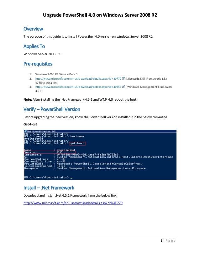Install powershell 5 in windows server 2008 r2 rootusers.