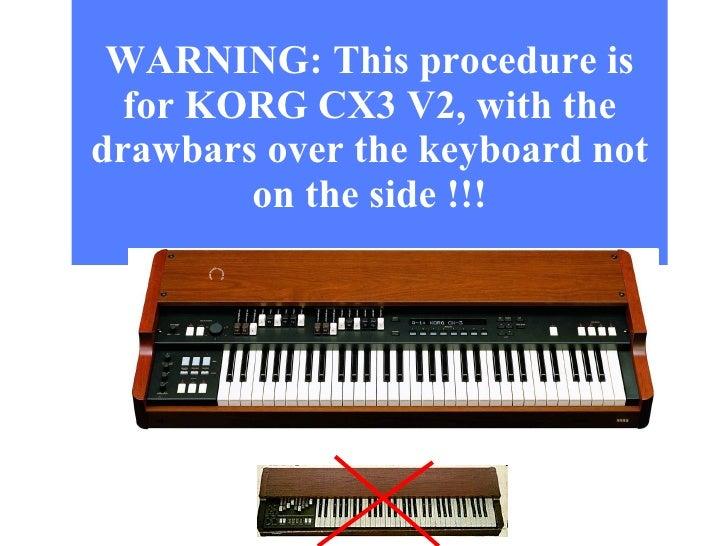 upgrade safely your korg cx3 v2 rh slideshare net korg cx 3 owners manual