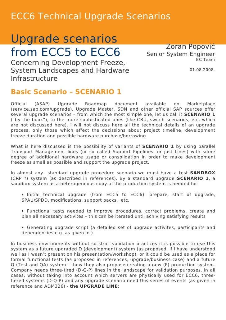 ECC6 Technical Upgrade Scenarios  Upgrade scenarios                                                                SPIK   ...