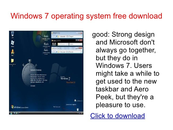 can i download windows 7 to replace xp