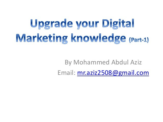 By Mohammed Abdul Aziz Email: mr.aziz2508@gmail.com