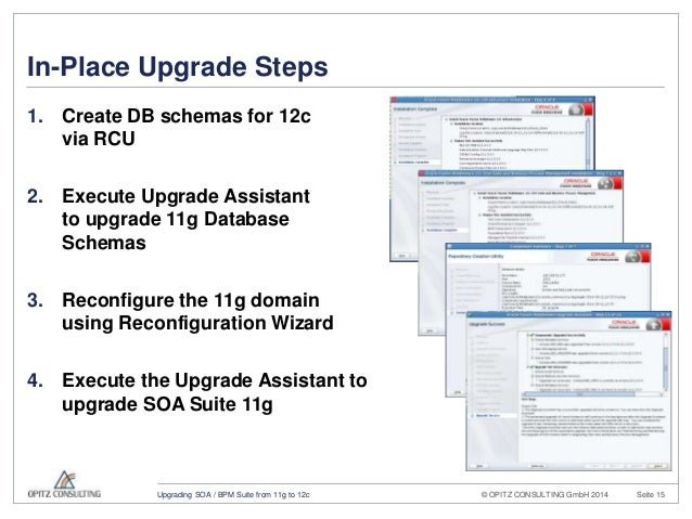 Upgrading Oracle SOA/BPM Suite from 11g to 12c
