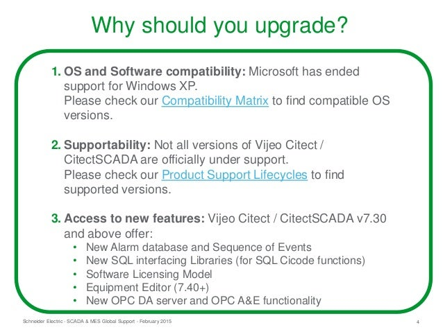 Upgrading to Vijeo Citect v7 30 and beyond: Recommended procedures, h…