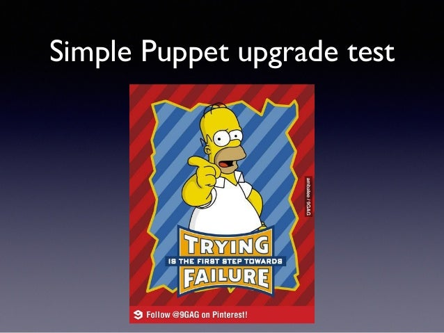 Simple Puppet upgrade test
