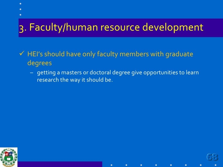 Improve research policies & frameworks<br /><ul><li>Implement an institutional Code of Ethics in Research that will guide ...
