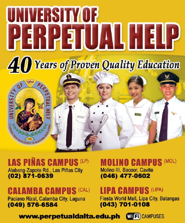 the university of perpetual help system dalta essay Discover the best homework help resource for sdadadada at university of perpetual help system dalta find sdadadada study guides, notes, and practice tests for.