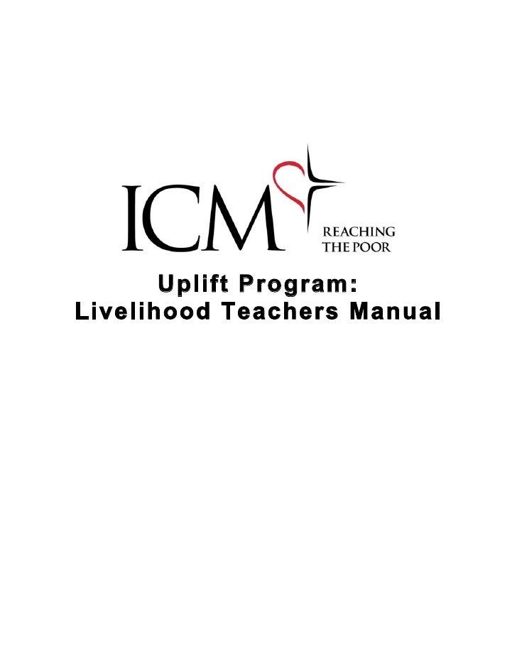 Uplift Program: Livelihood Teachers Manual