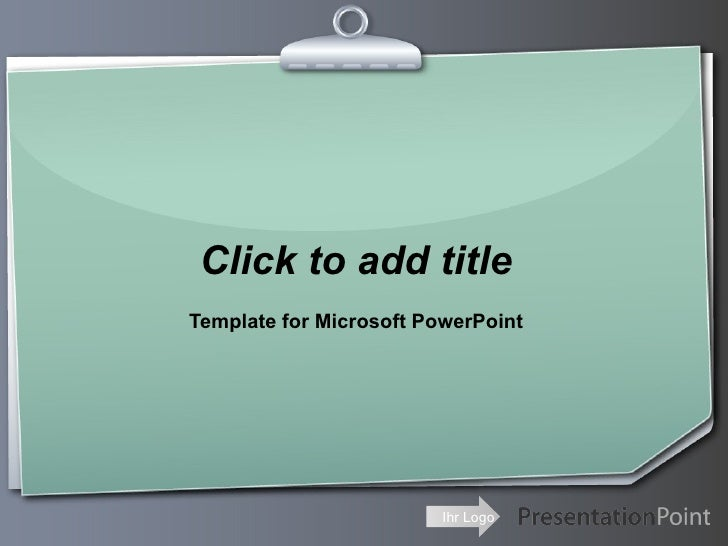 Click to add title Template for Microsoft PowerPoint                              Ihr Logo