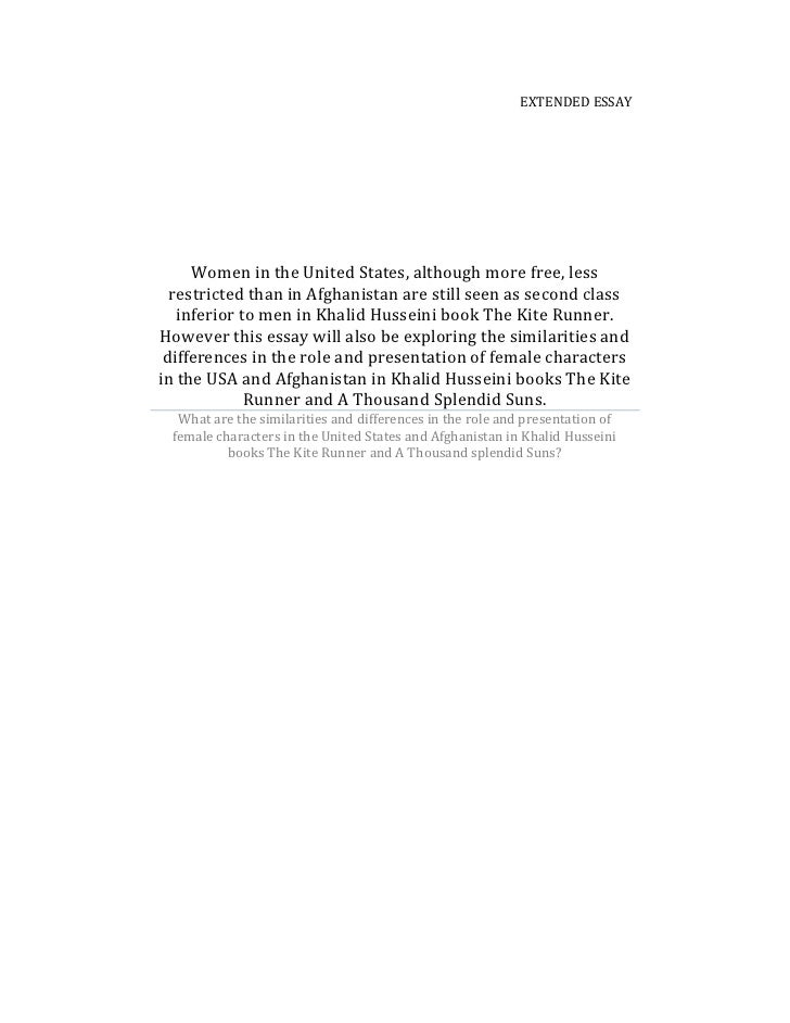 Extended essayWomen in the United States, although more free, less restricted than in Afghanistan are still seen as second...