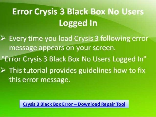 Crysis 3 Black Box Error – Download Repair Tool