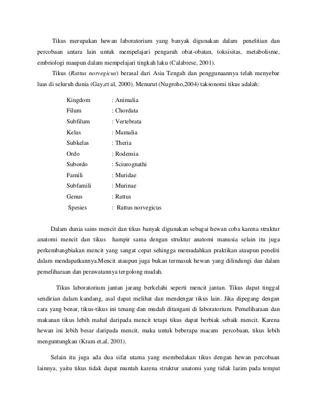 TERHADAP STRUKTUR HISTOLOGI TESTIS MENCIT (MUS MUSCULUS)