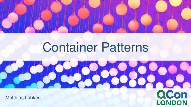 Matthias Lübken Container Patterns