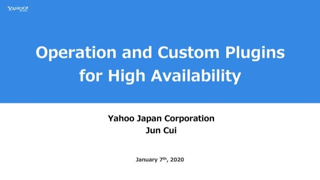 Operation and Custom Plugins for High Availability