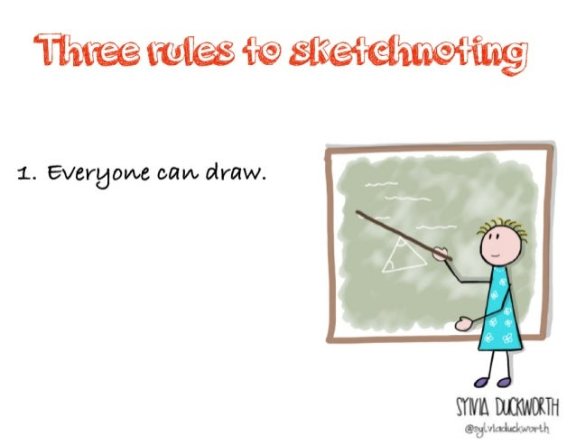 Three rules to _____________ Sylvia Duckworth 1. Everyone can _____. 2. You will improve with practice.