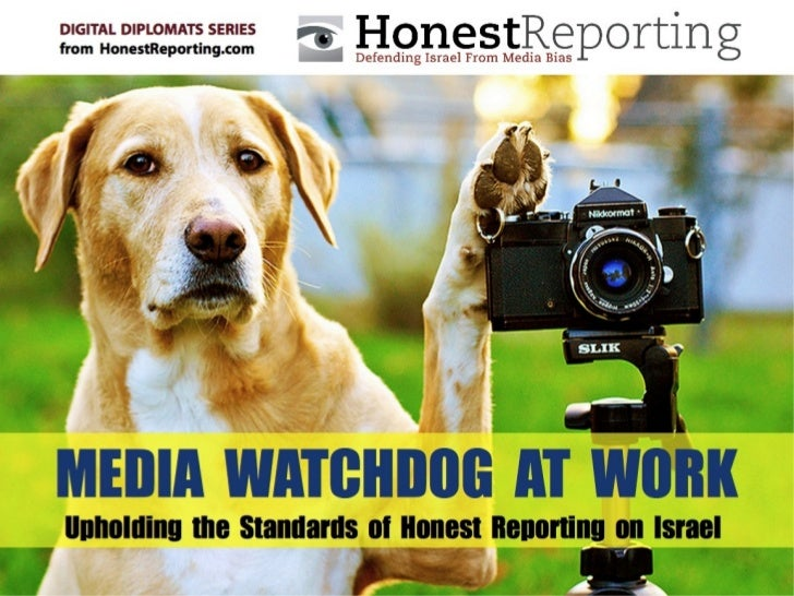 Be Part of the ConversationGet weekly media bias alerts at     www.honestreporting.com     Join our network on            ...