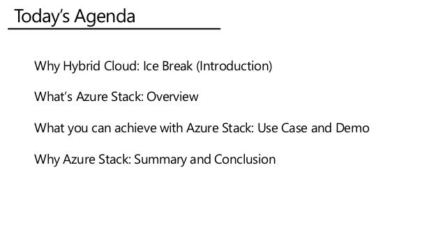 Empower Your Hybrid Cloud With Azure Stack Slide 2