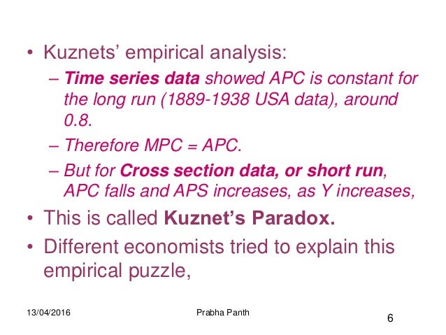 kuznets hypothesis analysis Abstract environmental kuznets curve (ekc) hypothesis states that relation between environmental degradation and per capita income follows an upside down u path.