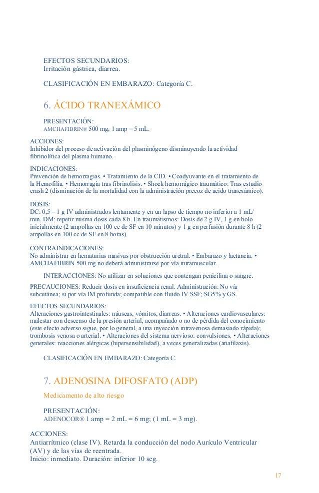 Guía Farmacológica INDICACIONES: Taquicardia paroxística supraventricular (TPSV), incluyendo las asociadas a vías de condu...