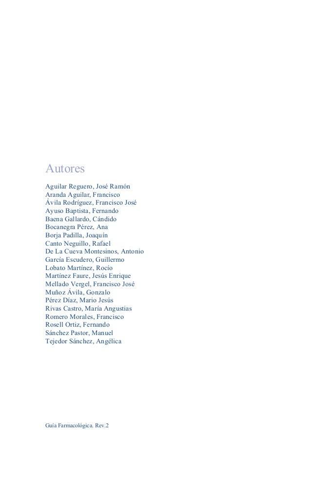 Autores Aguilar Reguero, José Ramón Aranda Aguilar, Francisco Ávila Rodríguez, Francisco José Ayuso Baptista, Fernando Bae...
