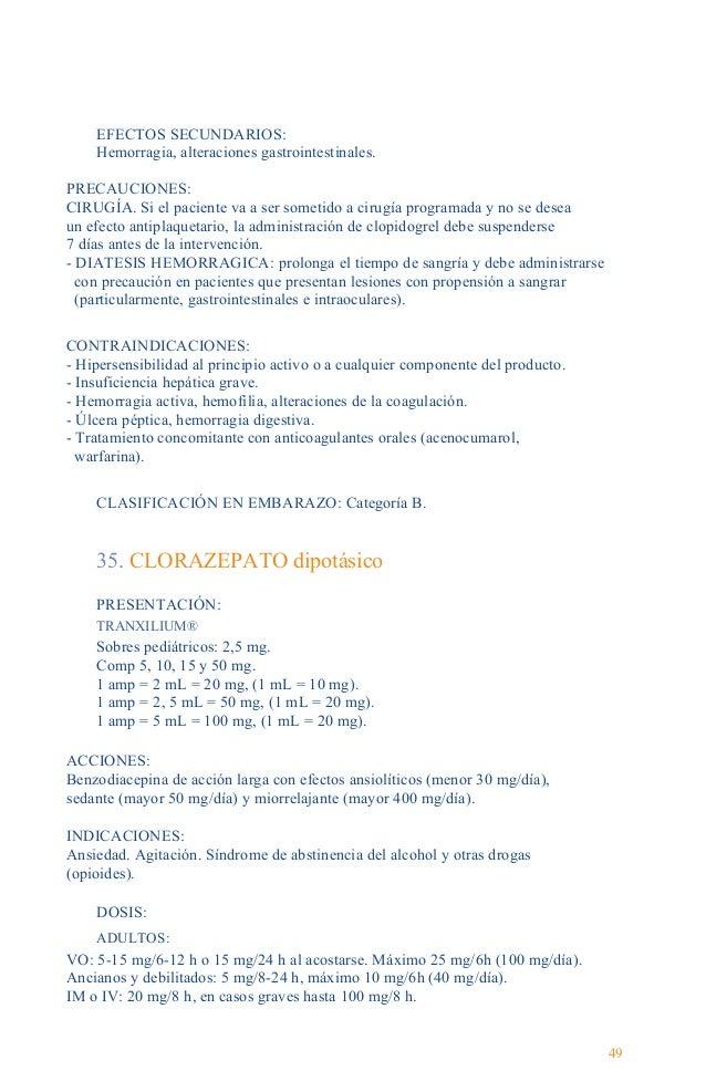 Guía Farmacológica Ej. adulto 70 kg Administración IV Diluir 20 mg en 250 mL SG5%, pasarlo en unos 10 min. Se puede repeti...