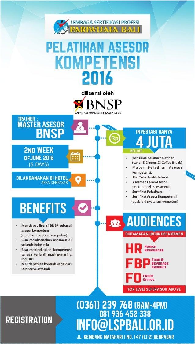 Forum SDM Bali ASSESSOR LSP Bali 14 June 2016