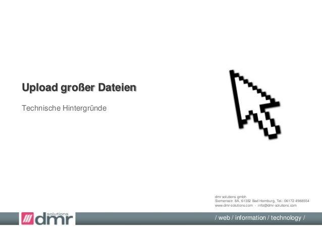 dmr solutions gmbhSiemensstr. 8A, 61352 Bad Homburg, Tel.: 06172 4988554www.dmr-solutions.com - info@dmr-solutions.com/ we...