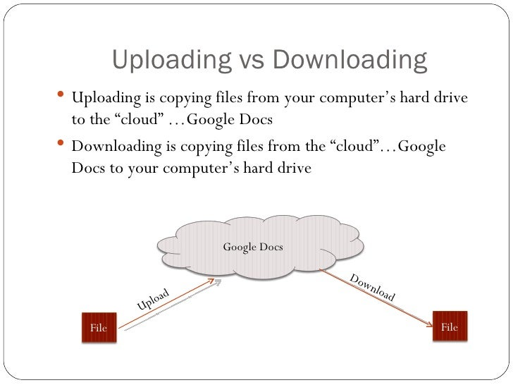 Google Docs: uploading and downloading files