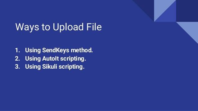 Uploading files using selenium web driver