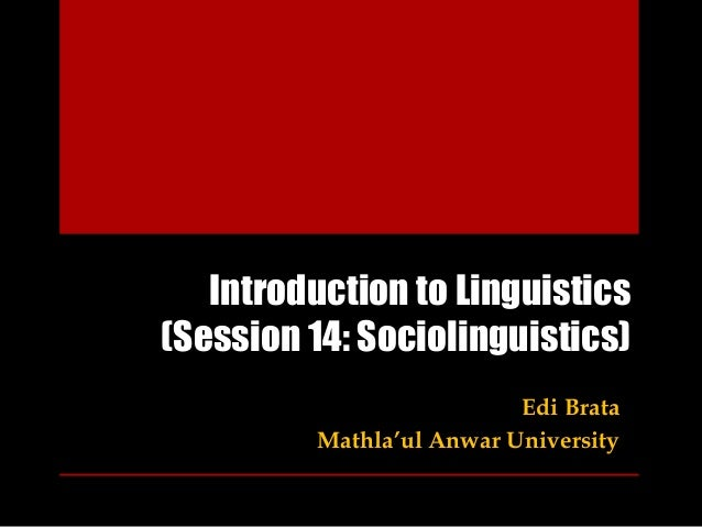 intro to linguistics essay Linguistics phd candidate tyler lau dissects linguistics and explores different subfields within linguistics what is linguistics - intro to branches of linguistics.