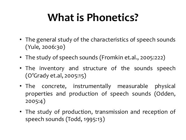 the important role of articulatory phonetics in linguistics The role of phonological vs phonetic considerations  phonetics is concerned with discovering systematic articulatory and  are important.