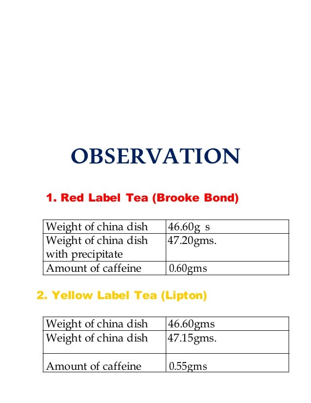 It's just a picture of Modest Caffeine in Red Label Tea