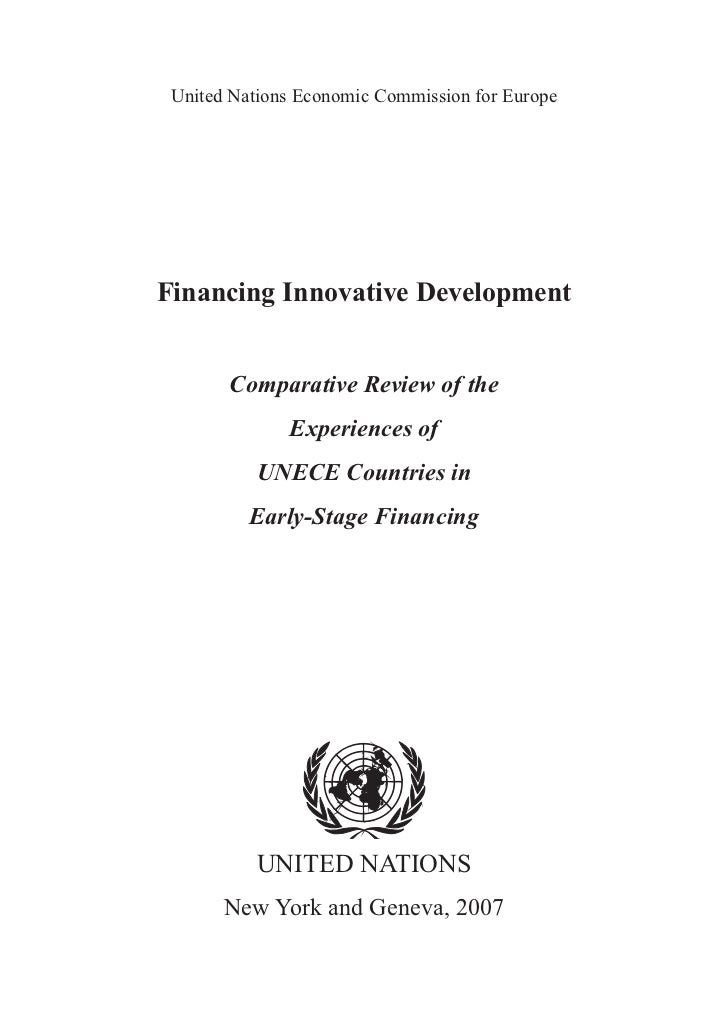 United Nations Economic Commission for EuropeFinancing Innovative Development       Comparative Review of the             ...