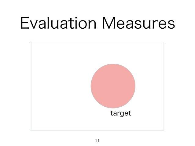 Evaluation Measures target 11
