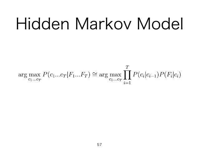 Hidden Markov Model 57