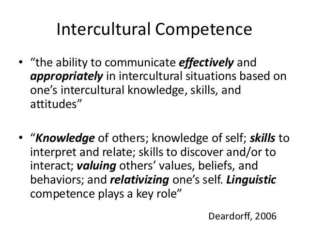 Intercultural Skills Examples