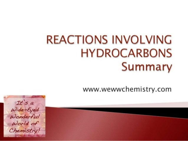 Reactions Involving Alkanes, Alkenes and Arenes