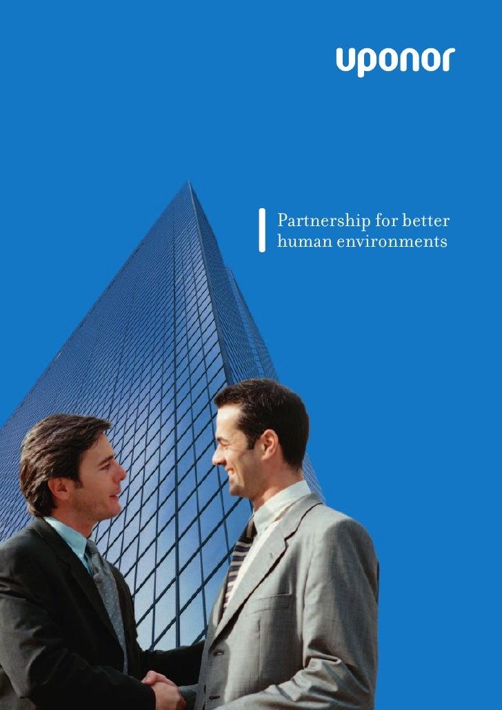 Partnership for better human environments