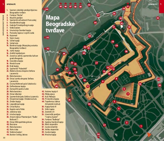 mapa kalemegdana beograd Upoznajte Beograd   turistički vodič mapa kalemegdana beograd